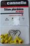 0640..jig heads 7gr hook 1/0 5 τεμ κίτρινα